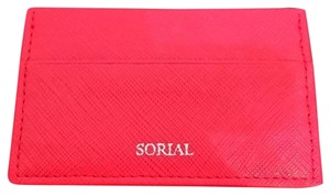 Sorial Cherry Red Leather Sorial Card Carrier