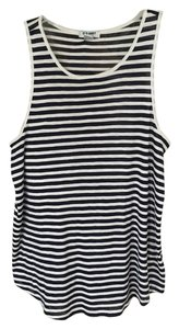 Old Navy Trapeze Stripe Summer Spring Top Black and White striped
