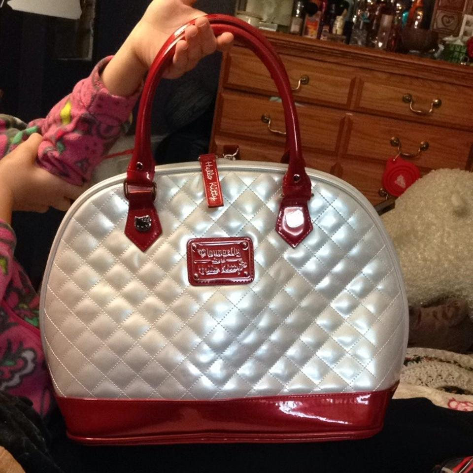 24c9988cf Loungefly Classic Hello Kitty Face Quilted Bowler White with Red ...