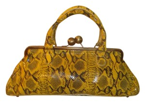 Maurizio Taiuti Satchel in Yellow and Black