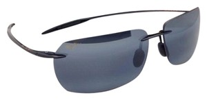 Maui Jim New MAUI JIM Sunglasses BANZAI MJ 425-02 61-12 Black Frame w/ Polarized Grey Lenses