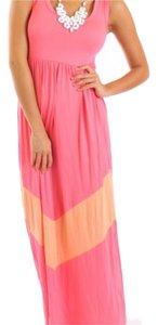 Pink/Coral Maxi Dress by Coveted Clothing