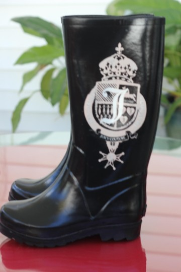 Juicy Couture Black and Pink Boots
