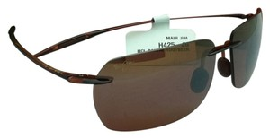 Maui Jim New Rimless MAUI JIM Sunglasses BANZAI MJ 425-26 61-12 Rootbeer Frame w/ Bronze Lenses