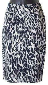 Charter Club Size 8 Animal Lined Pencil Skirt Multi-Color