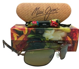 Maui Jim New MAUI JIM Sunglasses KAHUNA MJ H 162-23 Copper Frames with Brown Polarized Lenses