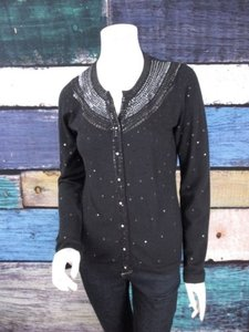 Charlotte Tarantola Anthropologie Sequin Embellished Cardigan Sweater