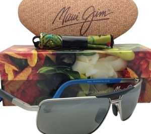 Maui Jim Polarized MAUI JIM Sunglasses KEANU MJ 271-17M Silver & Blue Frame w/Neutral Grey lenses