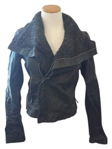 Line Lambskin Leather Jacket