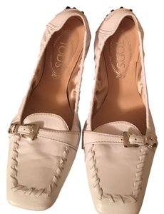 Tod's Driving Shoe New In Box white Flats