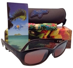 Maui Jim New MAUI JIM Sunglasses Punchbowl MJ R 219-01 Chocolate Frames w/Rose Polarized Lenses