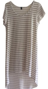 Anthropologie short dress Gray and white on Tradesy