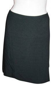 James Perse Pima Cotton Pleats Detail Mini Skirt Black