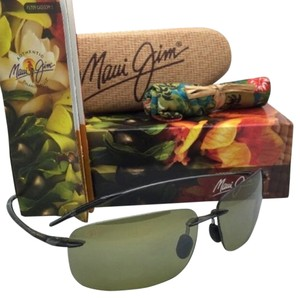 Maui Jim Polarized MAUI JIM Sunglasses BREAKWALL HT 422-11 Grey Smoke Frame w/ Maui HT Lenses