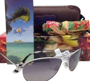 b8de18f365 Maui Jim POLARIZED MAUI JIM Sunglasses BABY BEACH MJ 245-17 Silver Aviator  Frame w