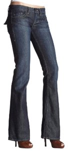 William Rast Wide Flap Denim Flare Leg Jeans-Medium Wash