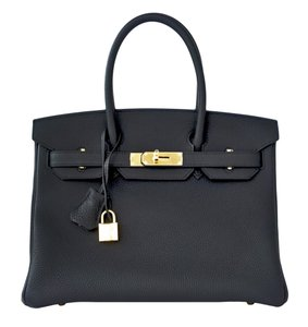 Hermès 30cm Birkin Ghw Satchel in Black
