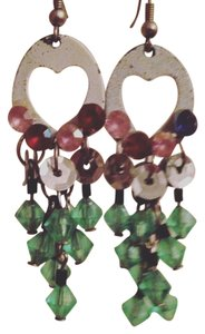 Other Handmade European Craft Rhinestone Heart Cutout Dangle Earrings