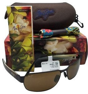 Maui Jim MAUI JIM Polarized Sunglasses BLACK CORAL MJ H 249-19M Espresso Frames w/Bronze Lenses