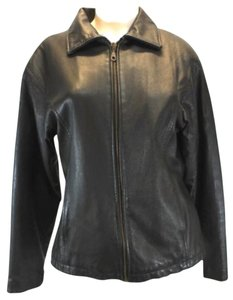 COQUI'S Leather Black Leather Jacket