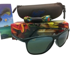 Maui Jim New MAUI JIM Sunglasses VOYAGER MJ 178-02 Black Frames w/ Grey Polarized Lenses
