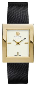 Tory Burch NWT TORY BURCH BUDDY CLASSIC GOLD/ BLACK LEATHER WATCH TRB2000 ($395+TAX)