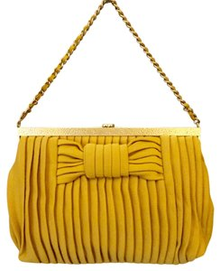 Chanel Pleated Bow Shoulder Bag