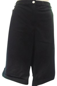 JM Collection Comfort Waist Tummy Panel Bermuda Shorts BLACK