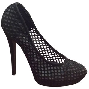 Penny Loves Kenny Heels Cutout Mesh Black Pumps