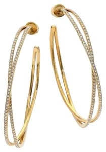 Michael Kors NWT MICHAEL KORS Criss-Cross Gold-Tone Hoop Earrings MKJ4406710