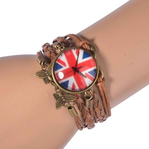 Other Leather Infinity London Flag Bracelet Adjustable Length J2178