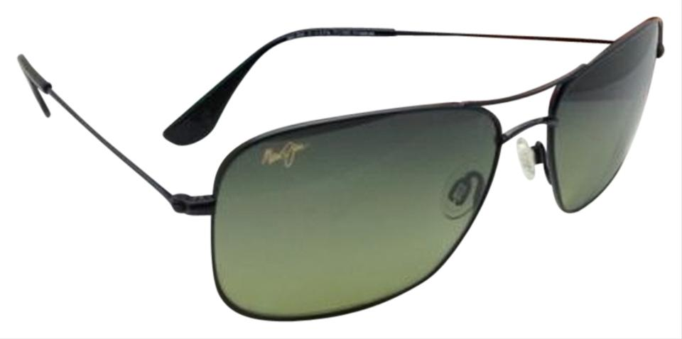 34a2e4b9a35 Maui Jim Polarized MAUI JIM Sunglasses Titanium WIKI WIKI MJ 246-02 Black  w  ...