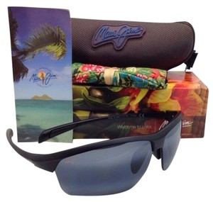 Maui Jim New MAUI JIM Sunglasses STONE CRUSHERS MJ 429-2M Matte Black Frame w/Polarized Grey lenses