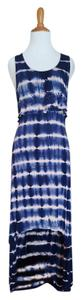 Blue tie dye Maxi Dress by Design History
