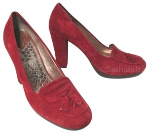 Sam Edelman New 10 Suede Leather Heel red Pumps