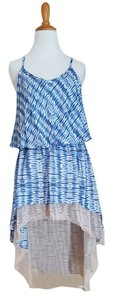 T-Bags Los Angeles short dress Blue White Tie Dye Sundress on Tradesy