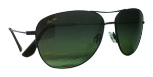 Maui Jim New MAUI JIM Sunglasses CLIFF HOUSE MJ 247-02 59-15 Black Frame w/ Maui HT gradient lenses