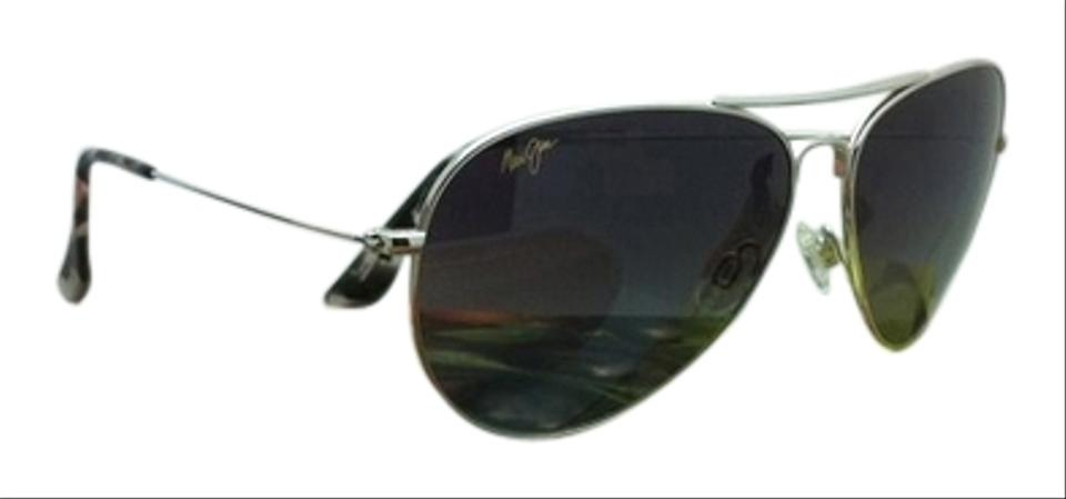 1a032c5c15 Maui Jim New MAUI JIM Titanium Sunglasses MAVERICKS GS 264-17 Silver  Aviator Frame w ...