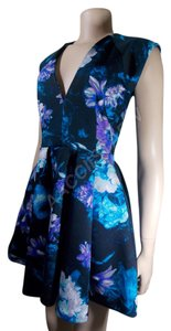 Guess short dress Blue / Multicolor / Floral Neck Summer Spring Summer Fashion on Tradesy