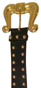 Escada Gold Studded Escada Belt