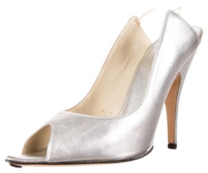 Gucci Metallic Heels Silver Pumps