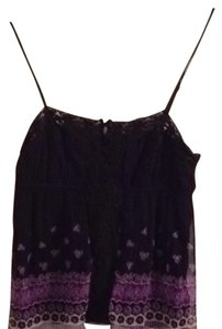 Free People Top Black And Purple