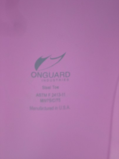 Onguard Steel Toe Work Never Worn Safety Rain New Pink Boots
