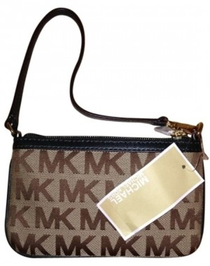 Michael Kors Wristlet in brown & green