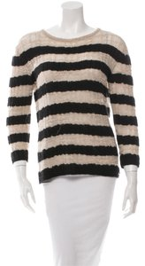 Chanel Oversized Graphic Cashmere Stripes Runway Sweater