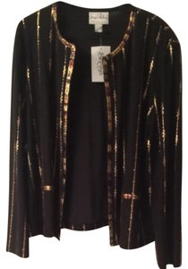 Joseph Ribkoff Top Black with Golden Decoration