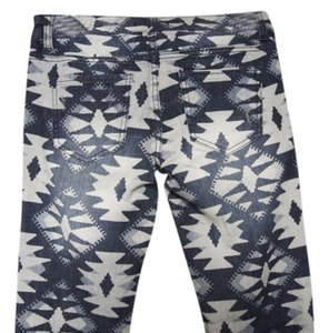 Nordstrom Skinny Pants Tribal Design in a Blue and White Color