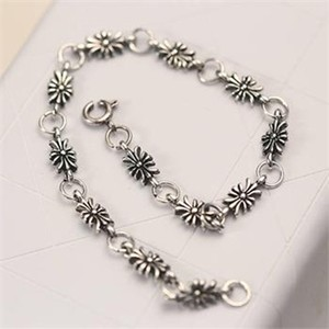 Tibet Silver Antiqued Flower Bracelet Free Shipping
