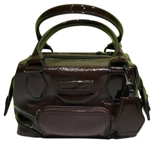 Longchamp Patent Small Satchel in Brown