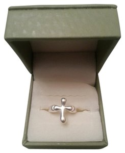 NEW! .925 Sterling Silver MODERN CROSS Ring Size 5